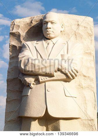 Granite Statue of Martin Luther King, West Potomac Park, Washington DC, USA