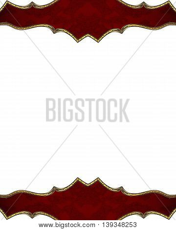 Red Decoration. Template For Design. Copy Space For Ad Brochure Or Announcement Invitation