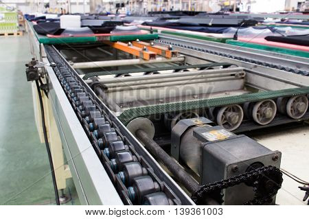 Motor chain drive shaft, production line of the factory