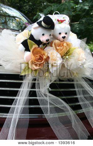 Wedding Car With Bear