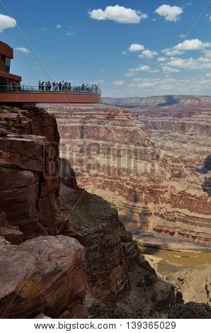 Grand Canyon view with Skywalk, Eagle point, Arizona, USA