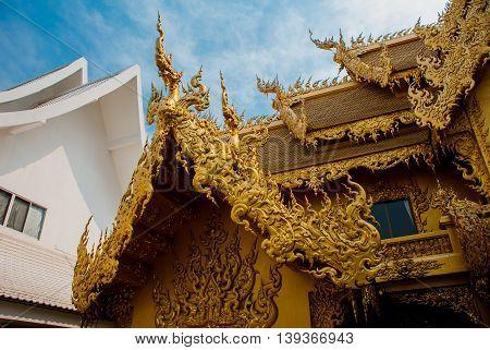 The Golden Palace. Toilet. Chiang Rai, Thailand.