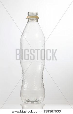 Kuala Lumpur Malaysia,18th July 2016,empty cocacola plastic bottle on the white background