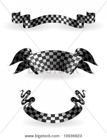 Checkered ribbons set, 10eps