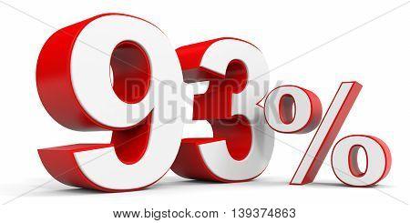 Discount 93 percent off sale. 3D illustration.