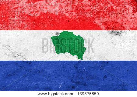 Flag Of Presidente Kennedy, Espirito Santo State, Brazil, With A