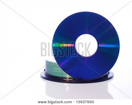 CD disc on white background