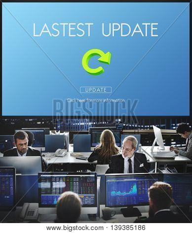 Latest Version Fresh Updates Application Updates Concept