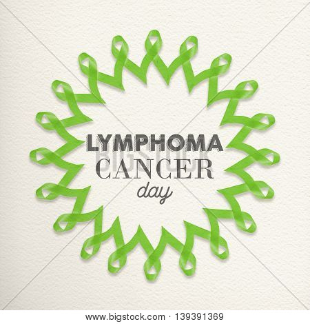 Lymphoma Cancer Day Design Made Of Ribbons
