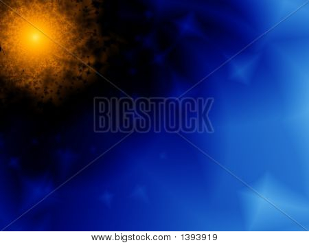 Explosion Of A Nova In Space - Fractal Illustration