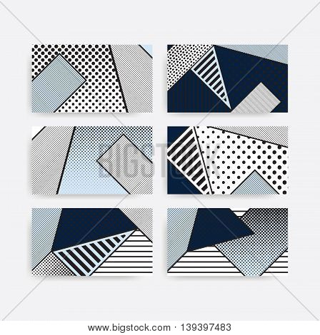 black and white pop art geometric pattern set juxtaposed with bright bold blocks of color squiggles, erratic images. Matterial design background elements composition. Futuristic, prospectus, poster, magazine, broadsheet, leaflet, book, billboard