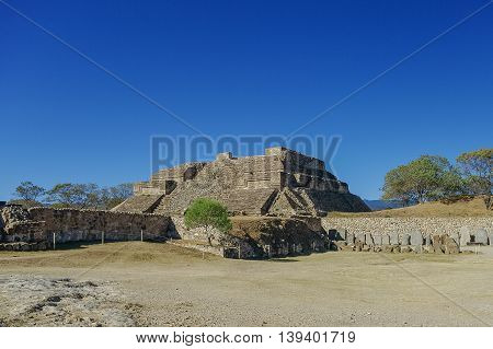 Monte Alban - The Ruins Of The Zapotec Civilization In Oaxaca, Mexico