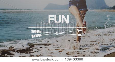 Have Fun Happiness Amusement Enjoyment Pleasure Concept