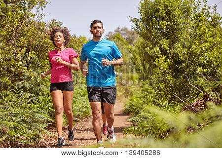 Three Young Joggers Out For A Run