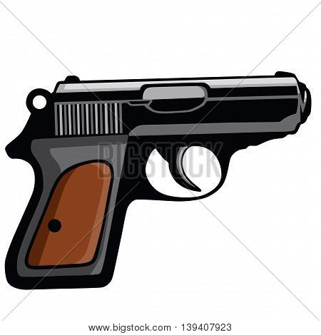 Personal Pistol Gun Vector Illustration Clipart Vector