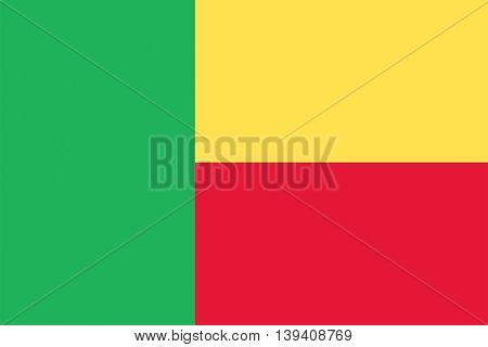 Vector Republic of Benin flag