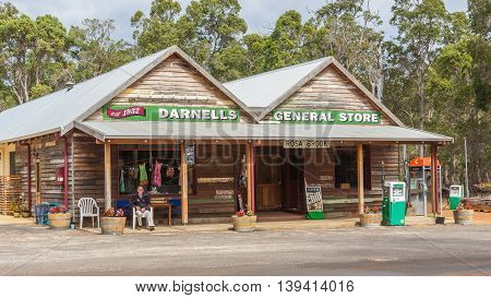 ROSA BROOK AUSTRALIA - APRIL 5 2016: A general store in Rosa Brook in the Margaret River area of Western Australia is a reminder of the past.