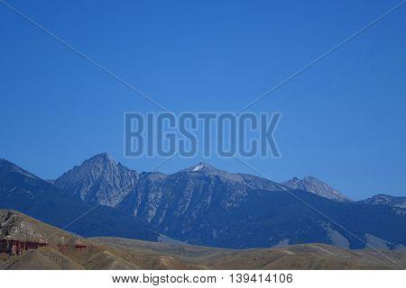 The Beaverhead Mountains near the Idaho town of Salmon.