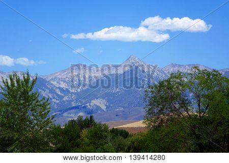 The Beaverhead Mountains in the Idaho town of Salmon.