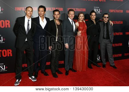 NEW YORK-JULY 11: The cast of 'The Infiltrator' New York premiere at AMC Loews Lincoln Square 13 Theater on July 11, 2016 in New York City.