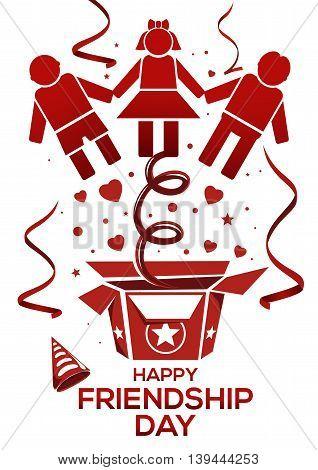 Friendship Day logo icon. Vector illustration for International Friendship Day