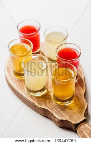 Glasses with  alcoholic drink