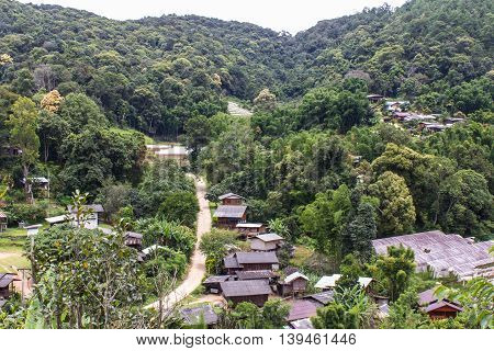Karen village at mountains, Ban Pha Mon in Doi Inthanon Chiangmai