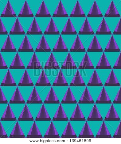 3D Cone And Triangle Pattern