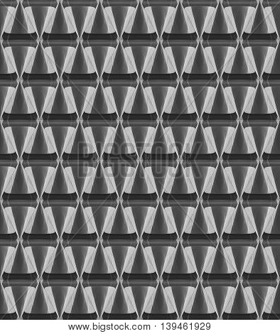 3D Crystal Cone Pattern White