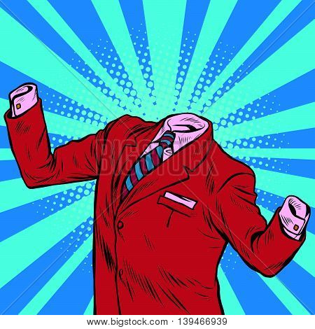 The invisible man businessman pop art retro vector illustration