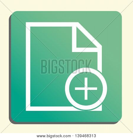 File Add Icon In Vector Format. Premium Quality File Add Symbol. Web Graphic File Add Sign On Green