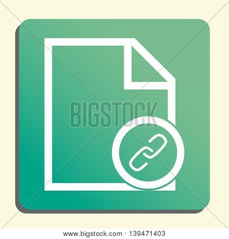 File Link Icon In Vector Format. Premium Quality File Link Symbol. Web Graphic File Link Sign On Gre