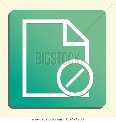 File Reject Icon In Vector Format. Premium Quality File Reject Symbol. Web Graphic File Reject Sign On Green Light Background. poster