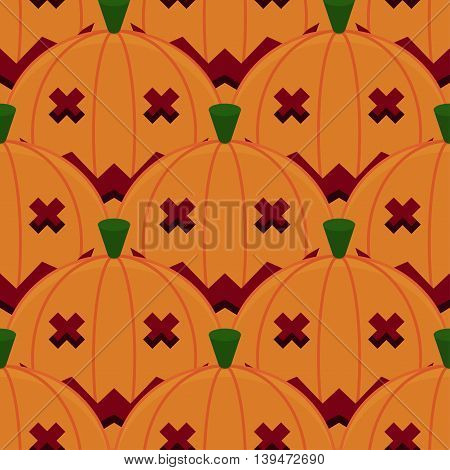 Halloween Pumpkin Seamless Pattern Background