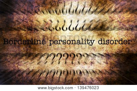 Personality Disorder Grunge Concept