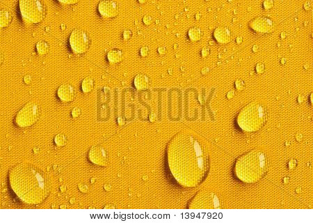 Drops on Yellow Umbrella