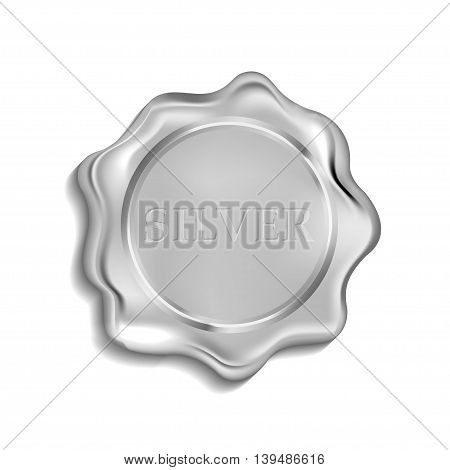 Silver seal  isolated on a white background