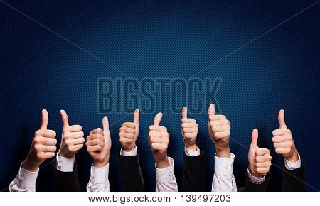 business people thumbs up. Great job, great opportunity concept