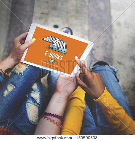 E-Books E-Reader Media Literature Innovation Technology Concept