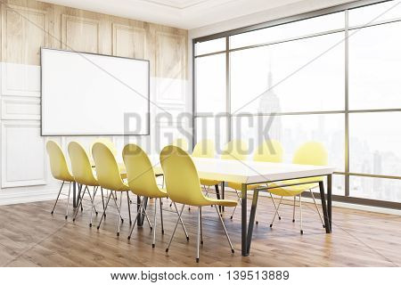 Modern Boardroom In New York Office.