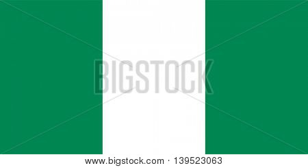 Vector Republic of Nigeria flag