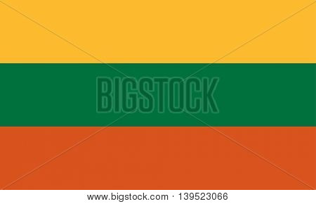 Vector Republic of Lithuania flag