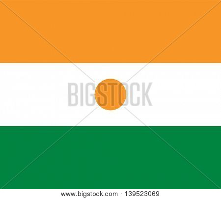 Vector Republic of Niger flag