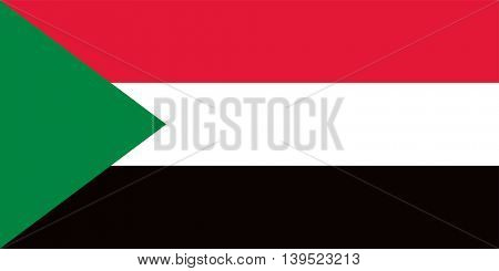 Vector Sudan flag
