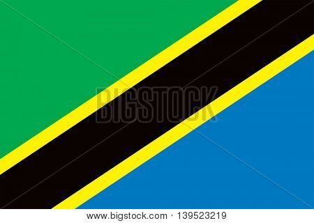 Vector Tanzania flag