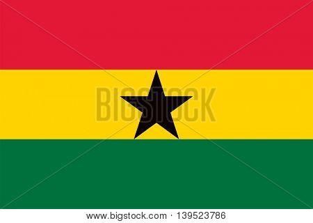 Vector Ghana flag