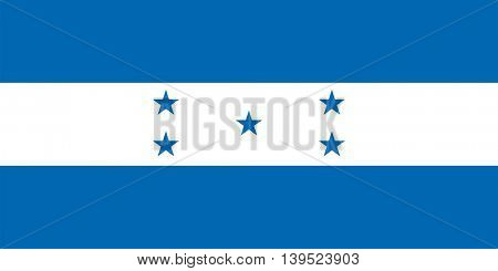 Vector Republic of Honduras flag