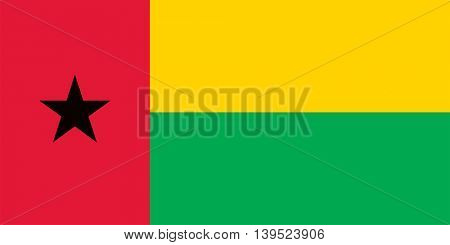 Vector Republic of Guinea-Bissau flag