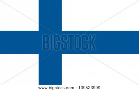 Vector Republic of Finland flag