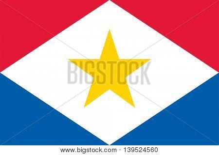 Vector Saba flag Caribbean island